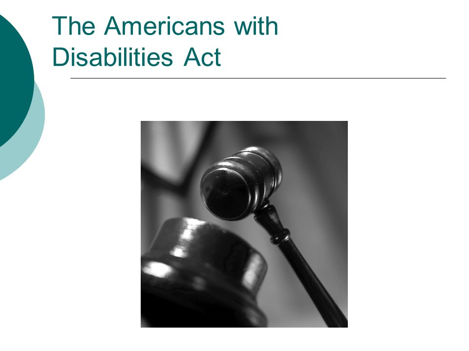 the americans with disability act Passed by congress in 1990, the americans with disabilities act (ada) is the  nation's first comprehensive civil rights law addressing the needs of people with.