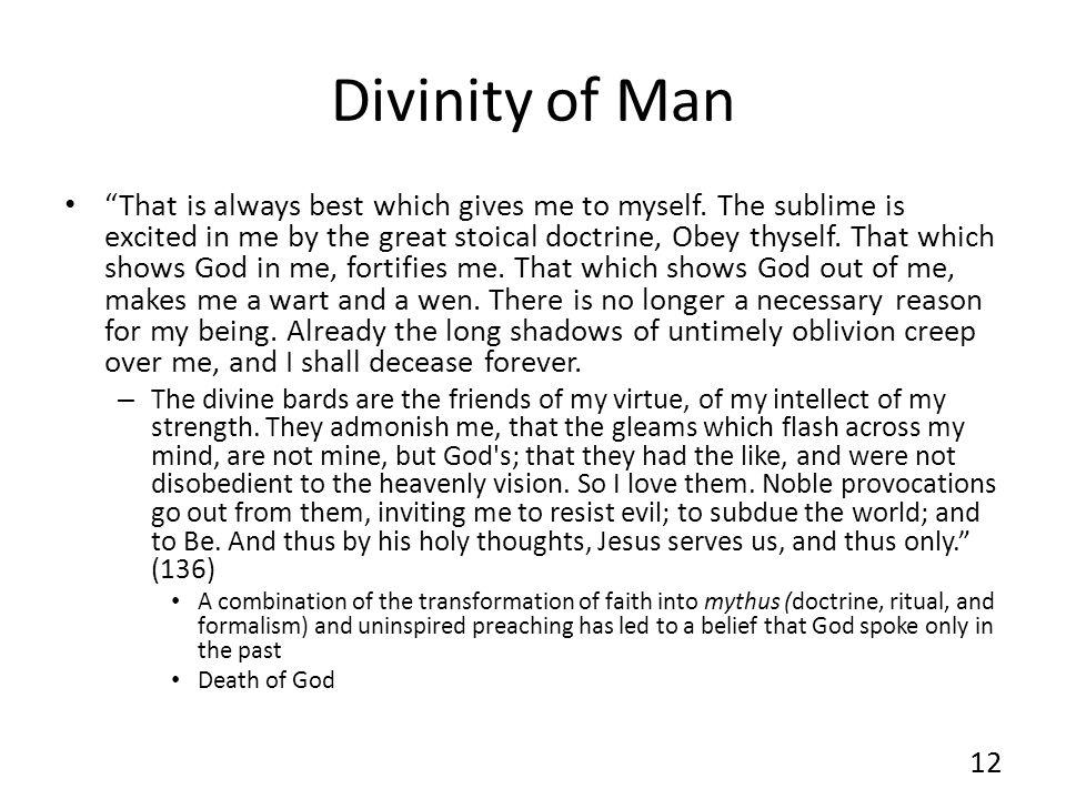 Divinity of Man