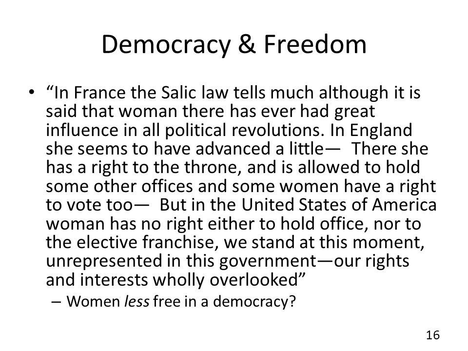 Democracy & Freedom