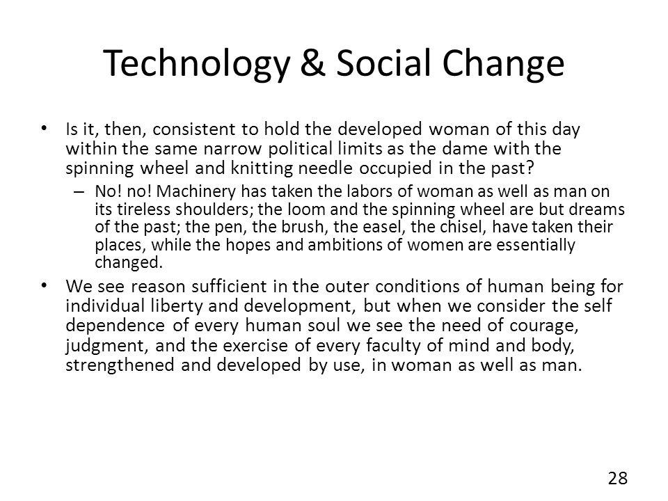 Technology & Social Change