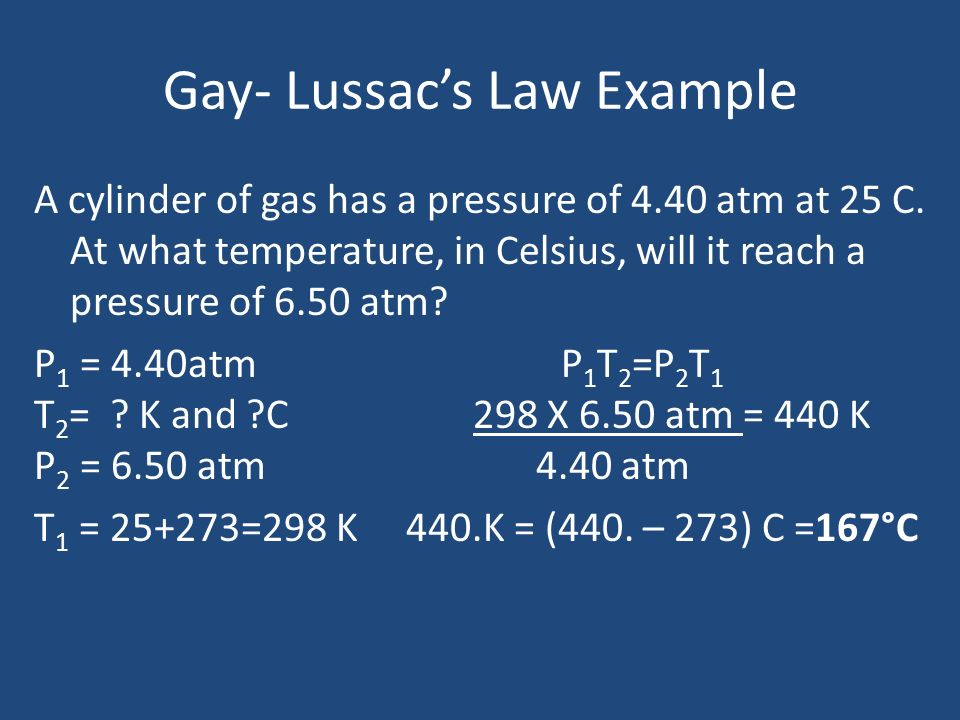 gay lussacs law examples