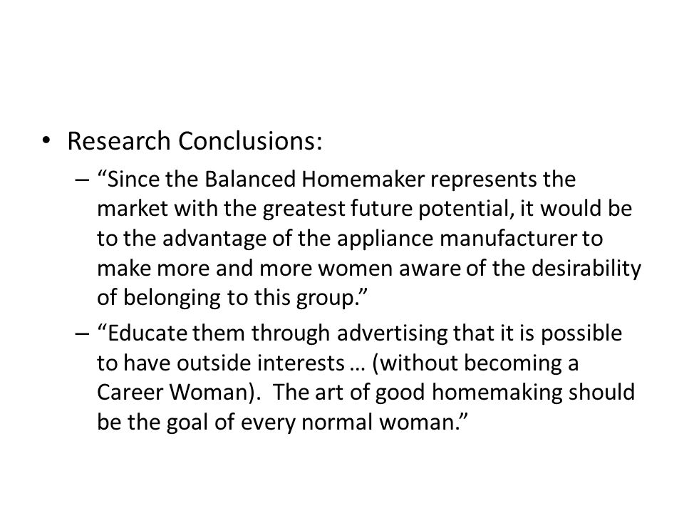 Research Conclusions: