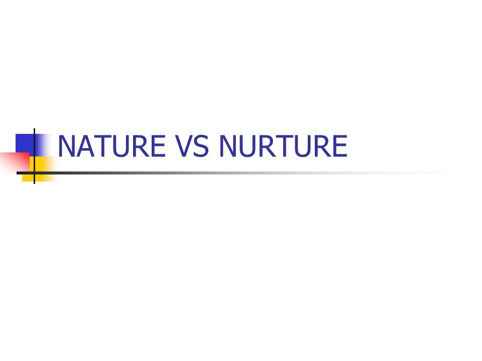 an evaluation of the nature versus nurture controversial debate Nature vs nurture by: aidan earle-lascelles the big debate on what makes who we are usually only has two side, nature vs nurture nature.