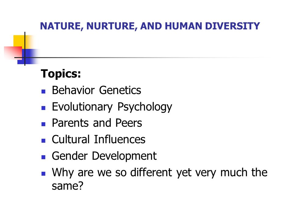 What does it mean by nature and nurture? Explain.human development and learning