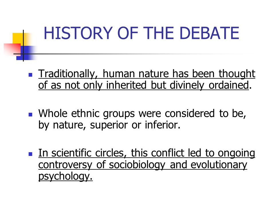 debate on human nature and how Human nature is good (xing shan 性善) is probably his most famous thesis some  quotes  6a2: human nature's being good is like water's tending downward.