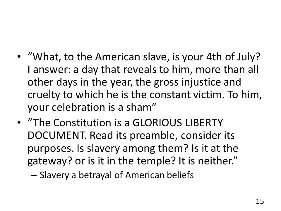 What, to the American slave, is your 4th of July