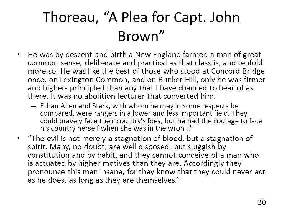 Thoreau, A Plea for Capt. John Brown