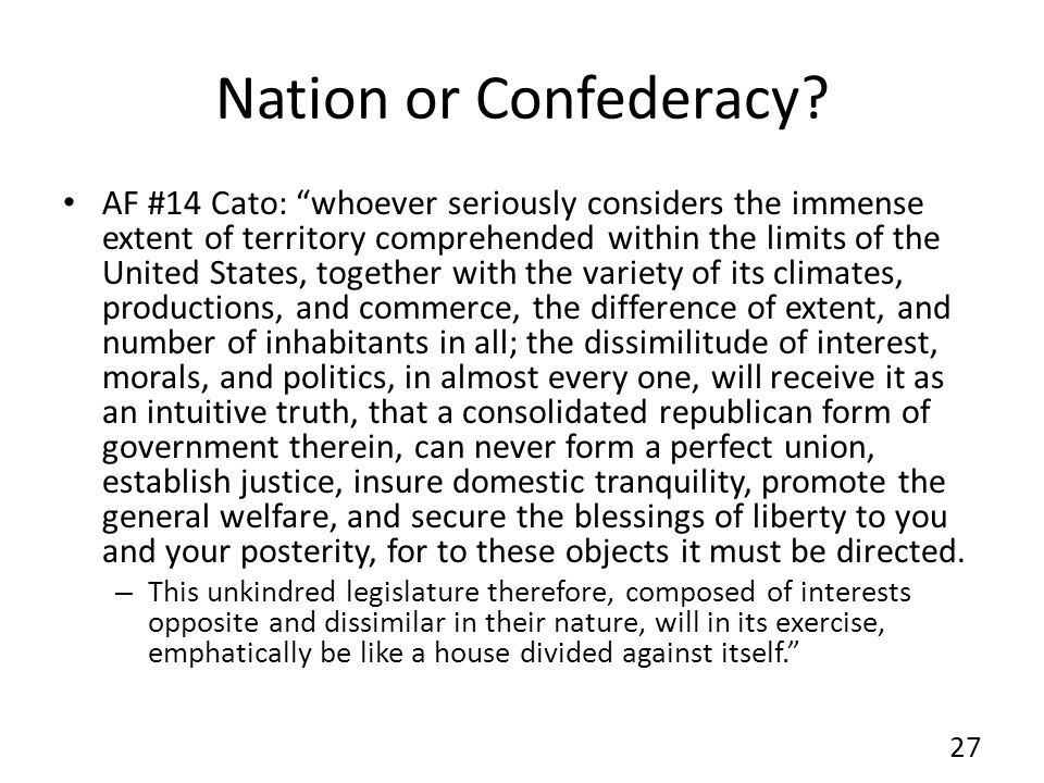 Nation or Confederacy