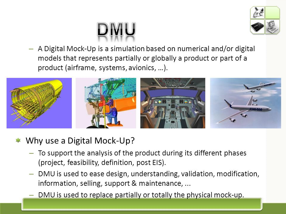 DMU Why use a Digital Mock-Up