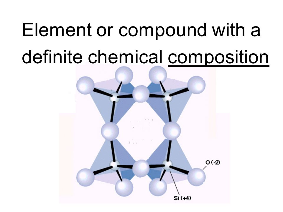 Element or compound with a