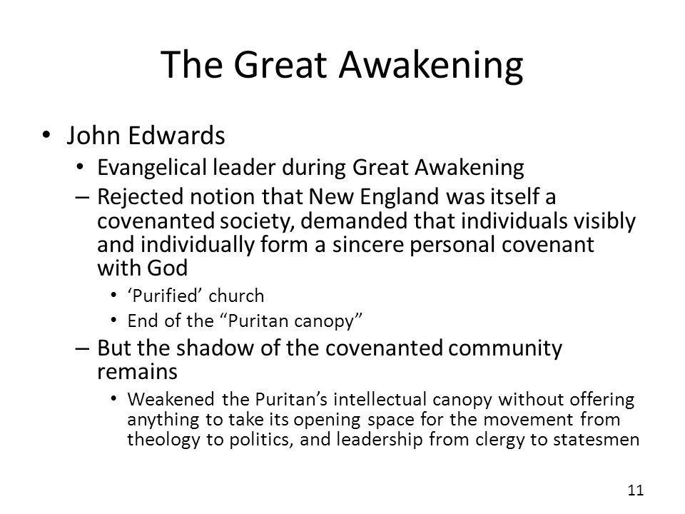 The Great Awakening John Edwards