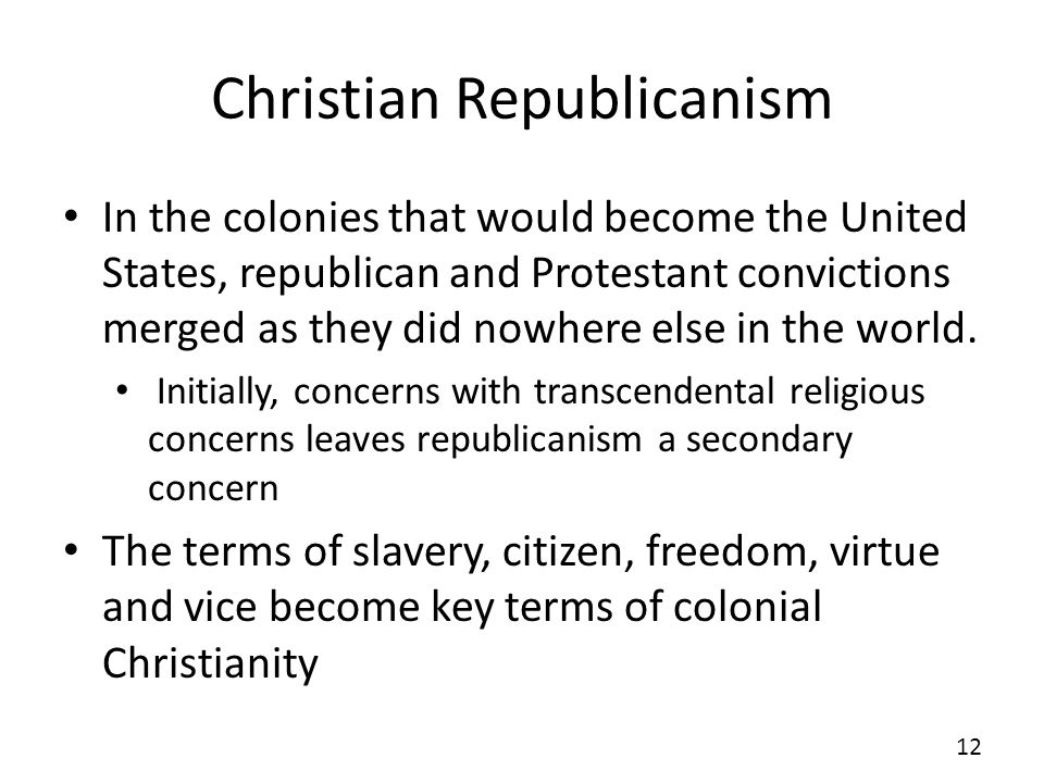 Christian Republicanism