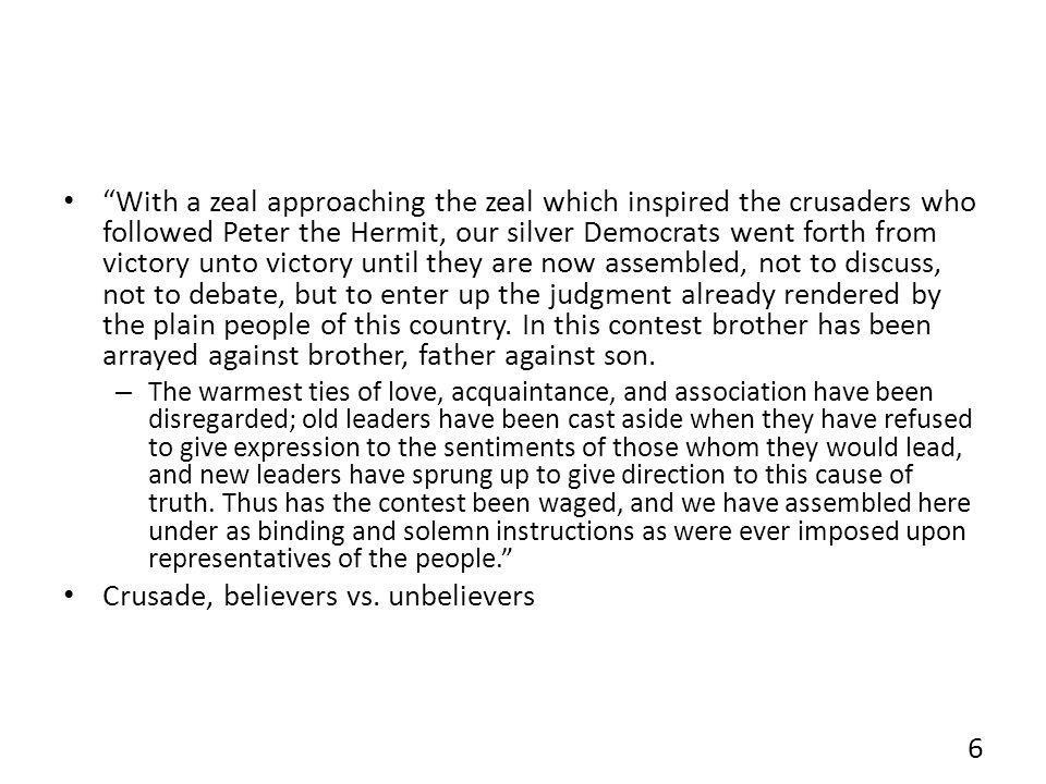 Crusade, believers vs. unbelievers