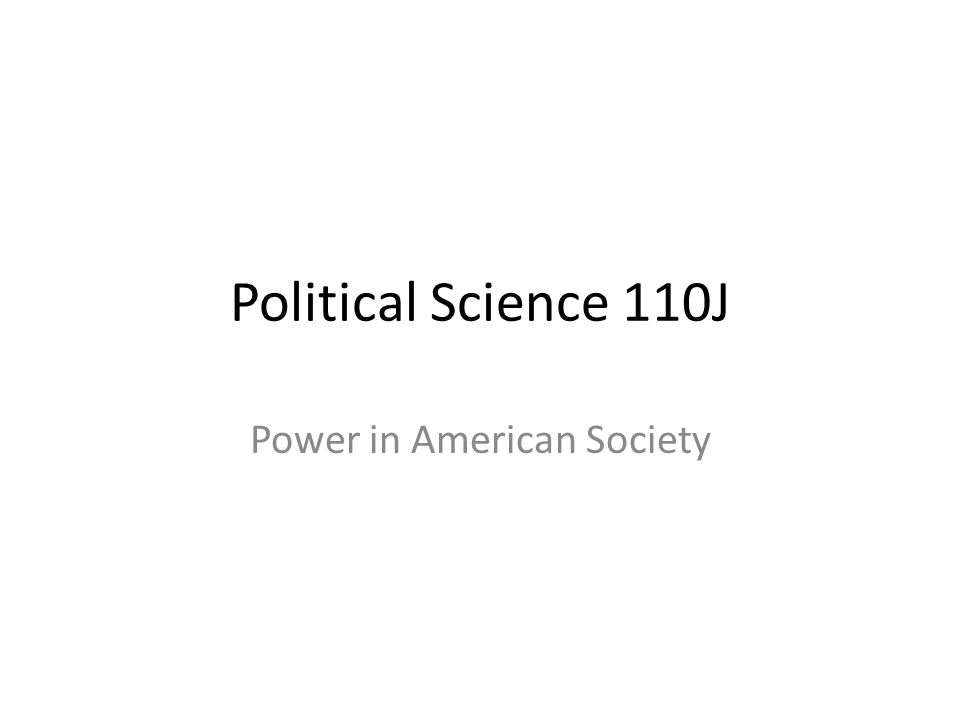 Power in American Society