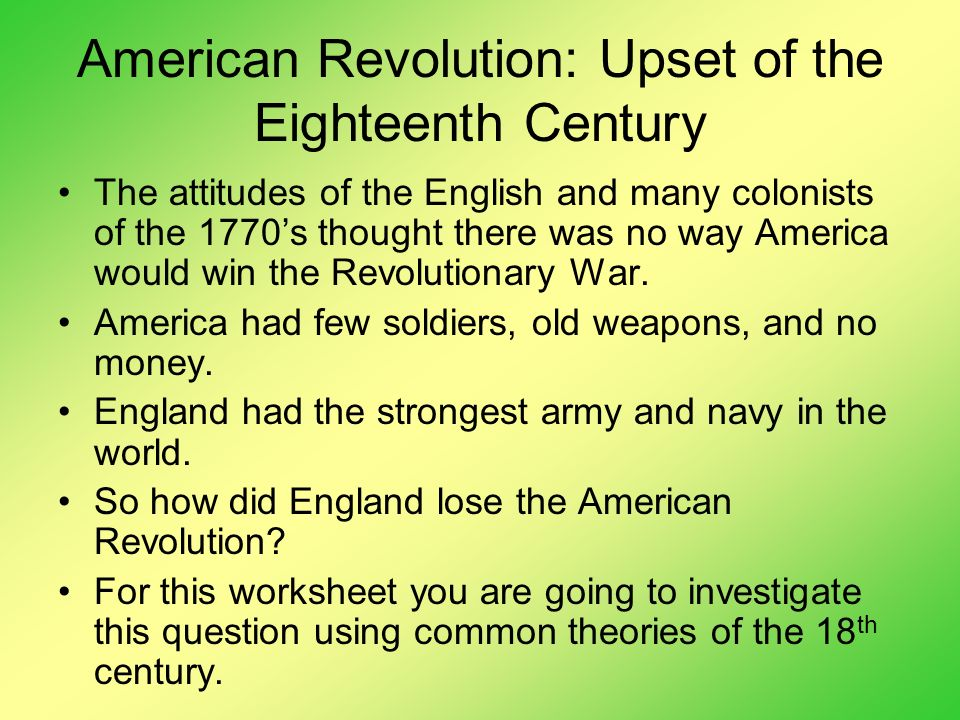 how england had instigated the american revolution French vs american revolution french/ american revolution how england instigated the american revolution french had to coexst in england.