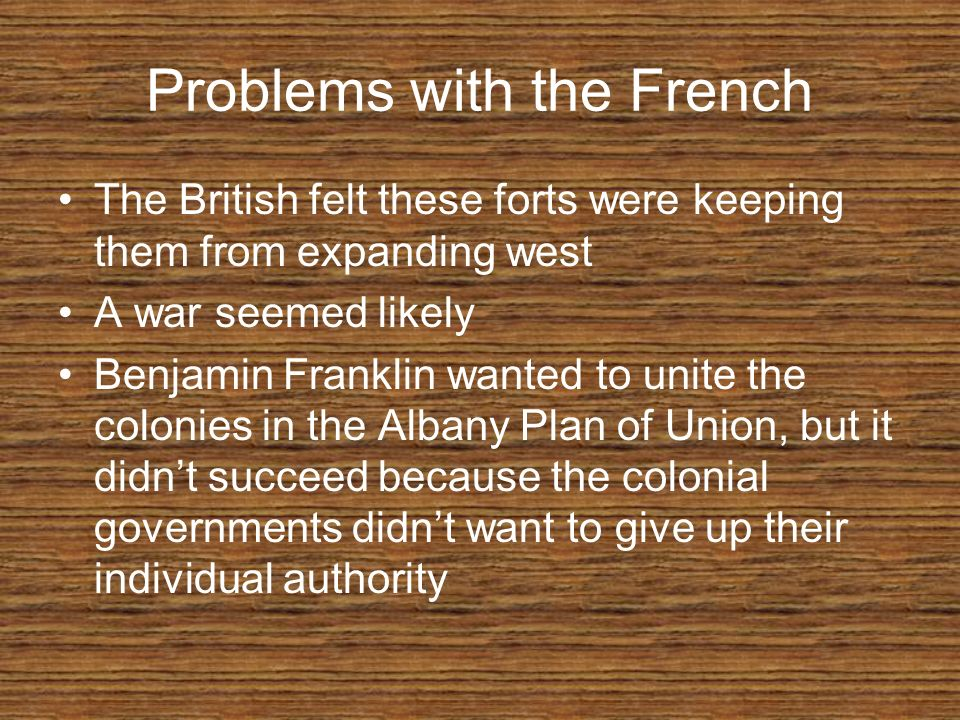Problems with the French