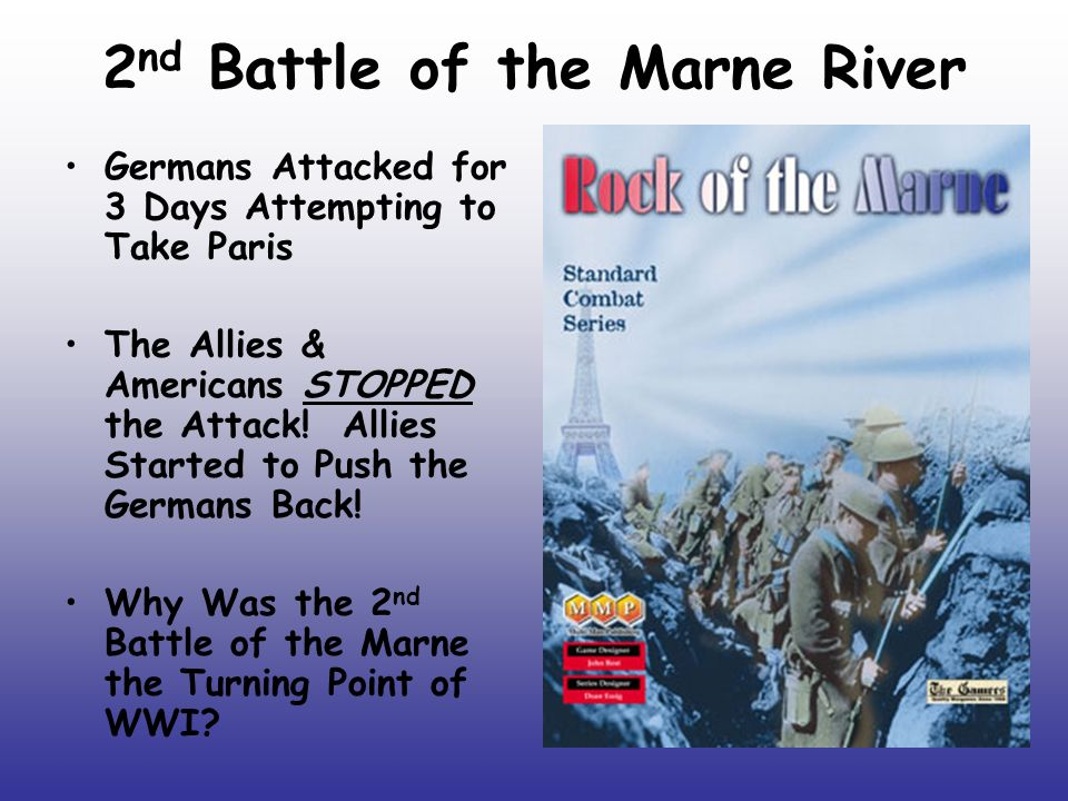 American troops in the second battle of the marne