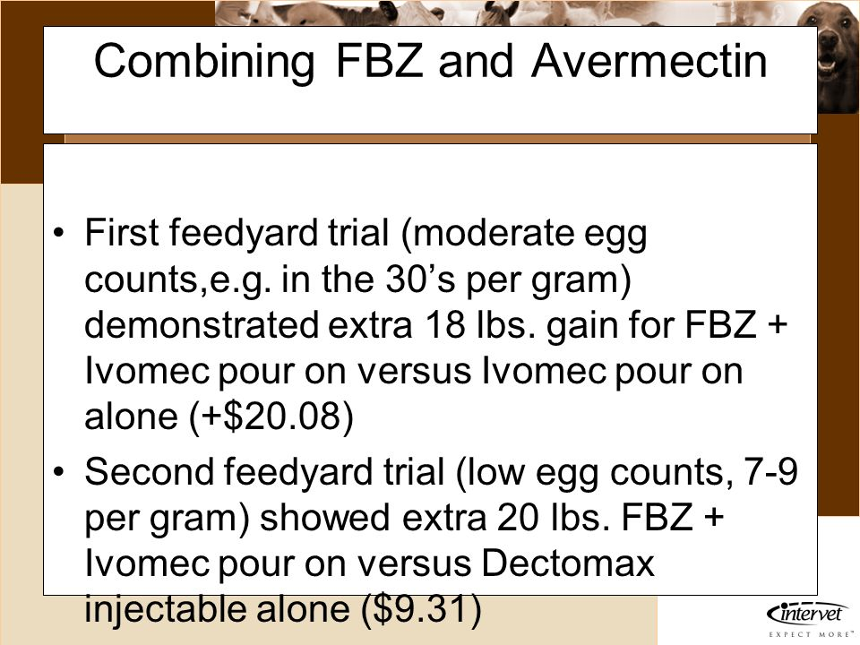 Combining FBZ and Avermectin