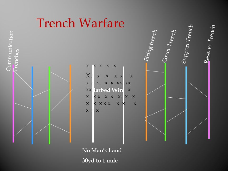 Trench Warfare Reserve Trench Support Trench Firing trench
