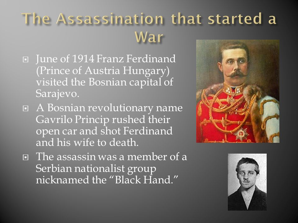 The Assassination that started a War