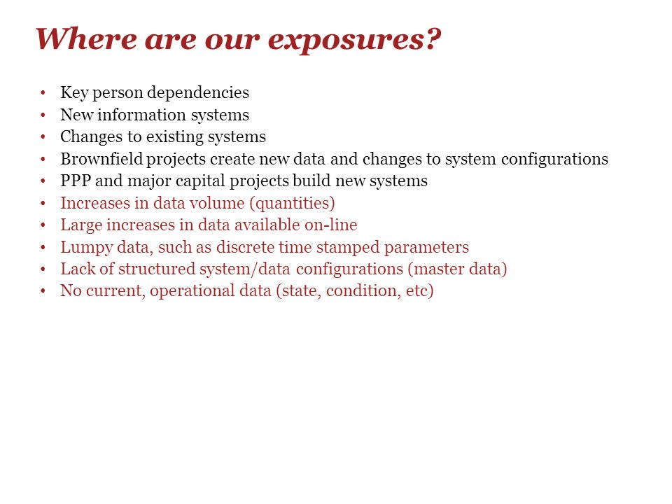 Where are our exposures