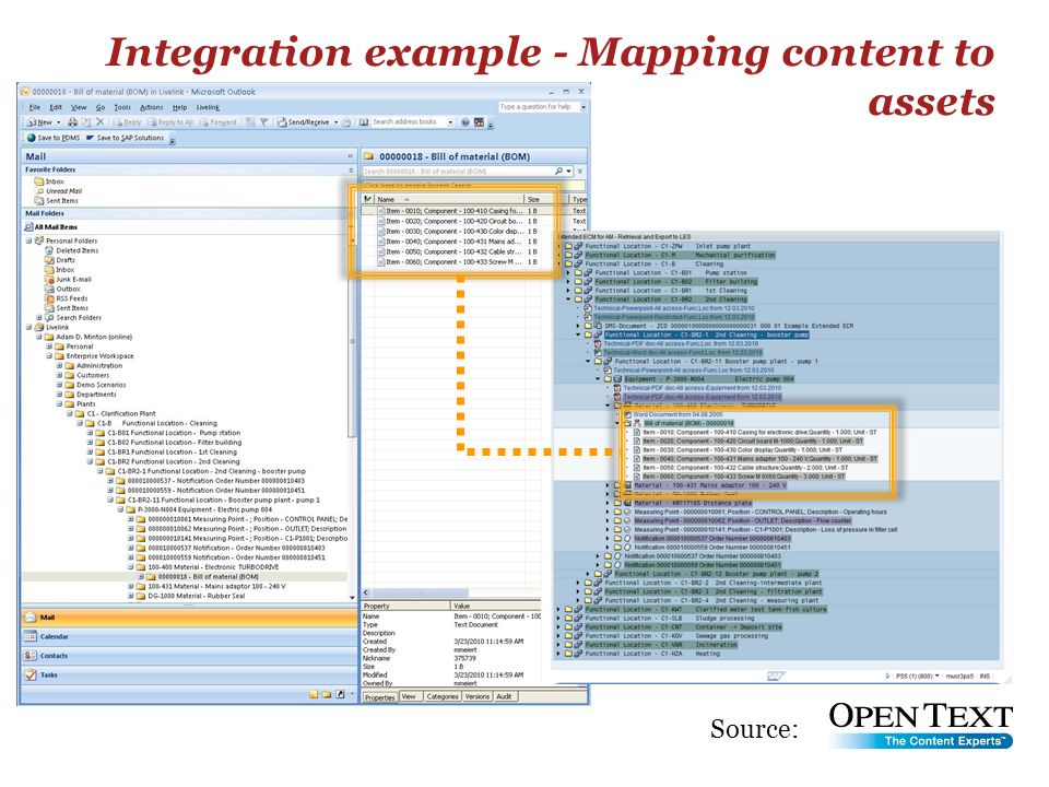 Integration example - Mapping content to assets