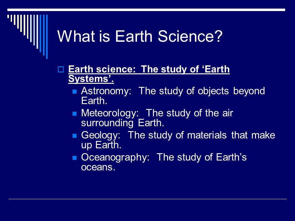 What is the earth science