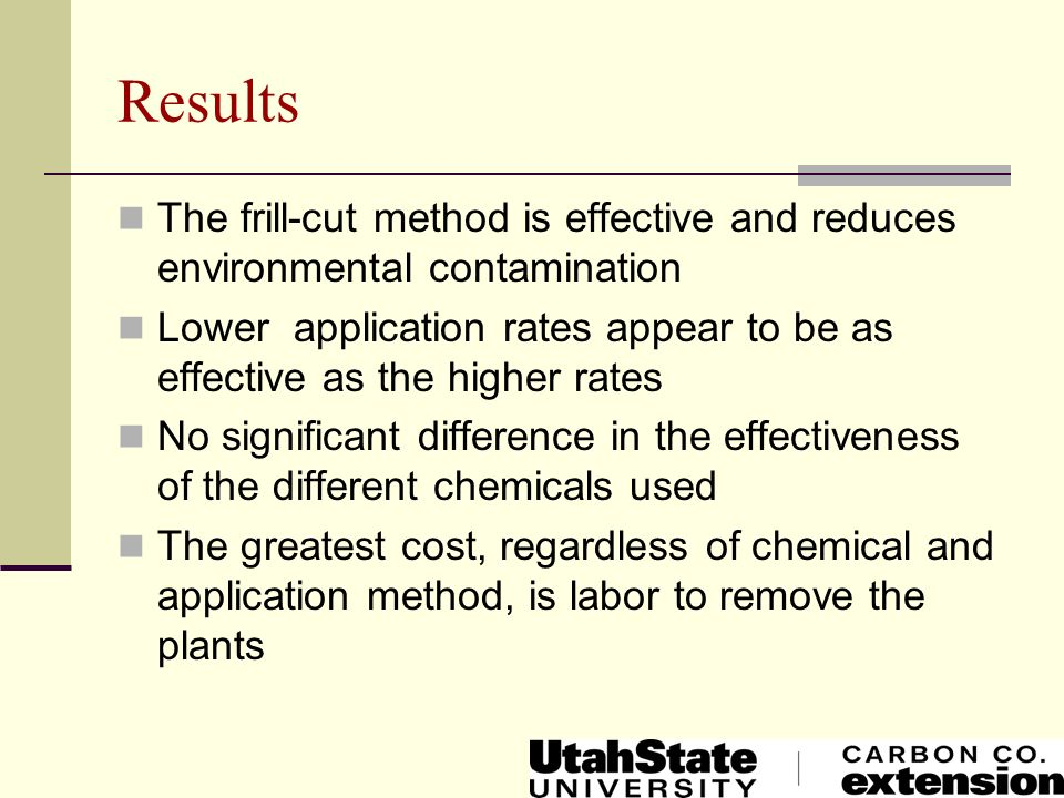 Results The frill-cut method is effective and reduces environmental contamination.