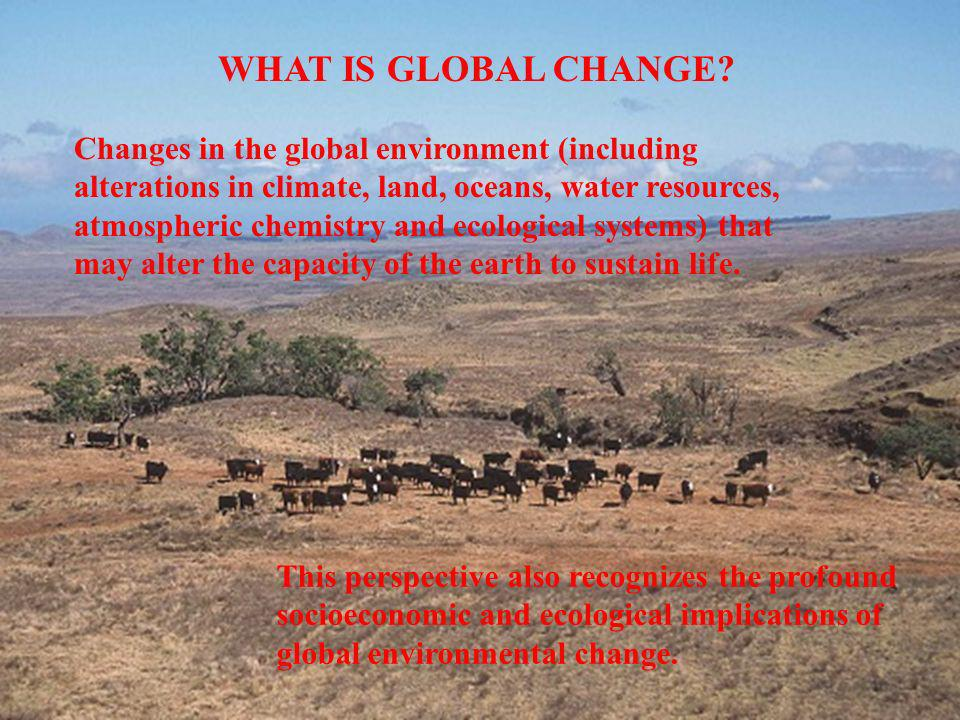 WHAT IS GLOBAL CHANGE