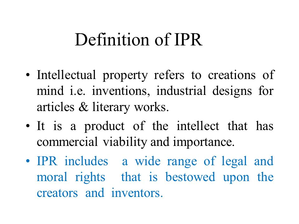 Intellectual Property Assets Definition