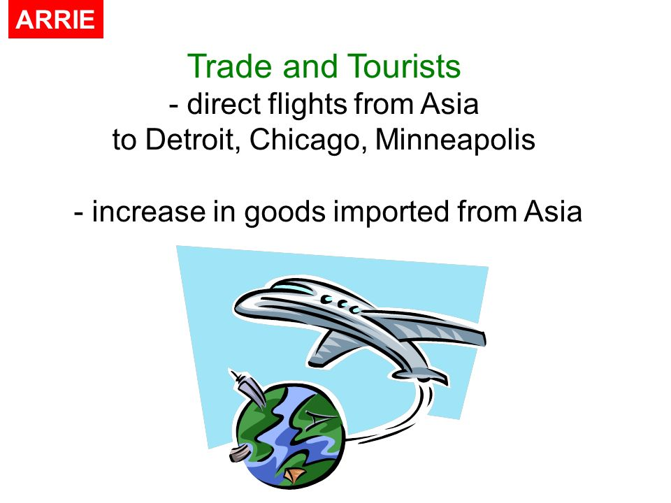 Trade and Tourists direct flights from Asia