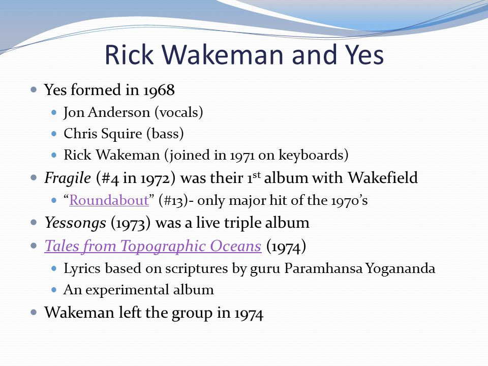 Chapter 12 What is Art Rock? - ppt video online download