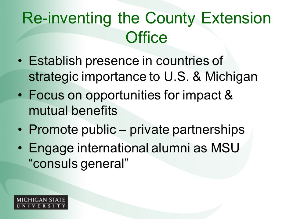 Re-inventing the County Extension Office