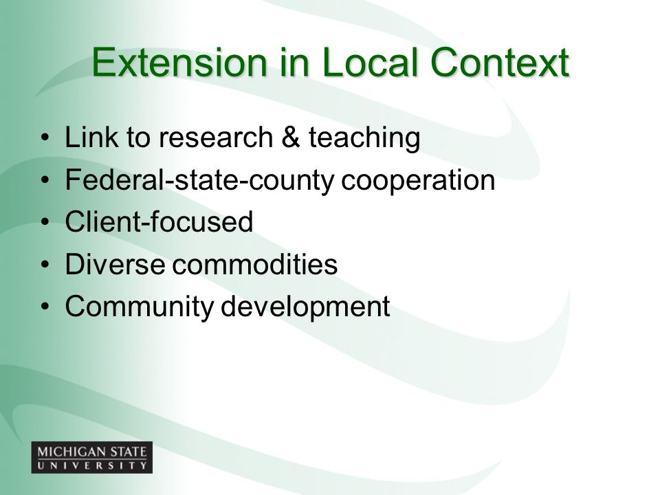 Extension in Local Context