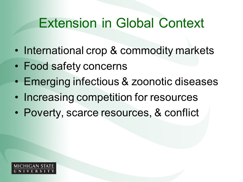 Extension in Global Context