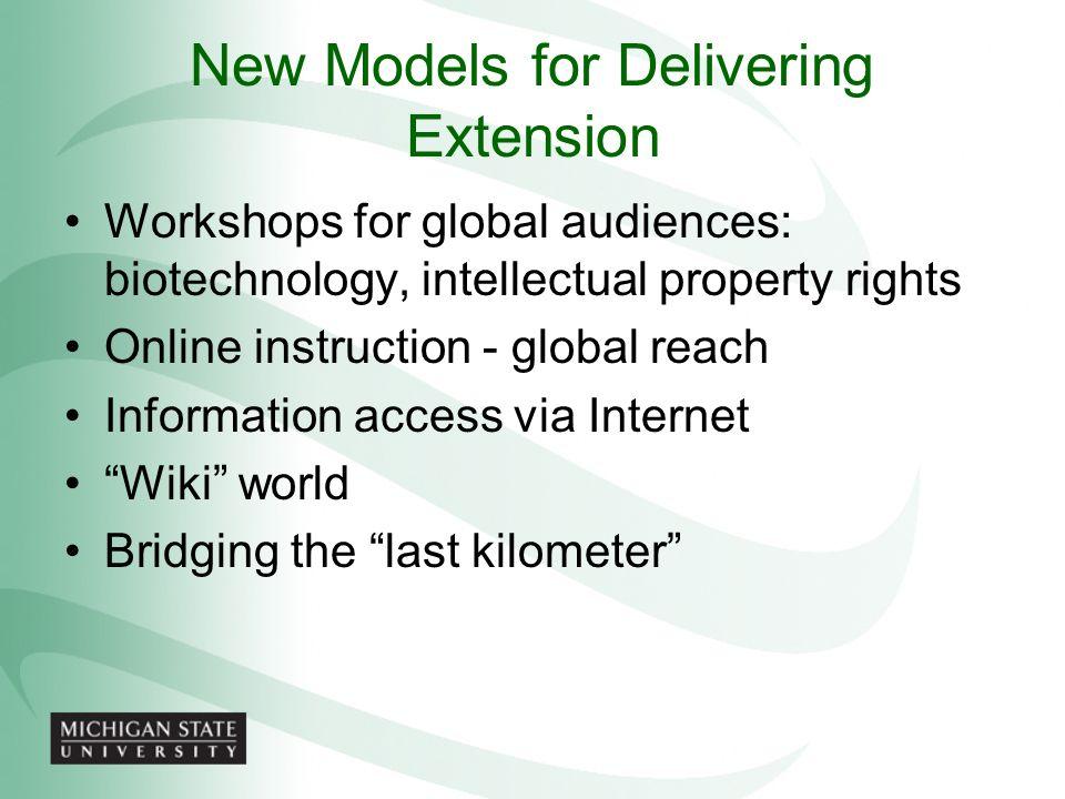 New Models for Delivering Extension