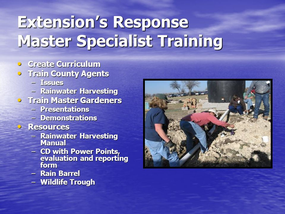 Extension's Response Master Specialist Training