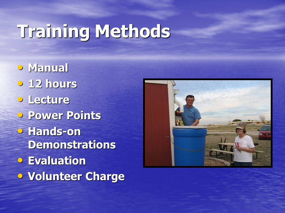Training Methods Manual 12 hours Lecture Power Points