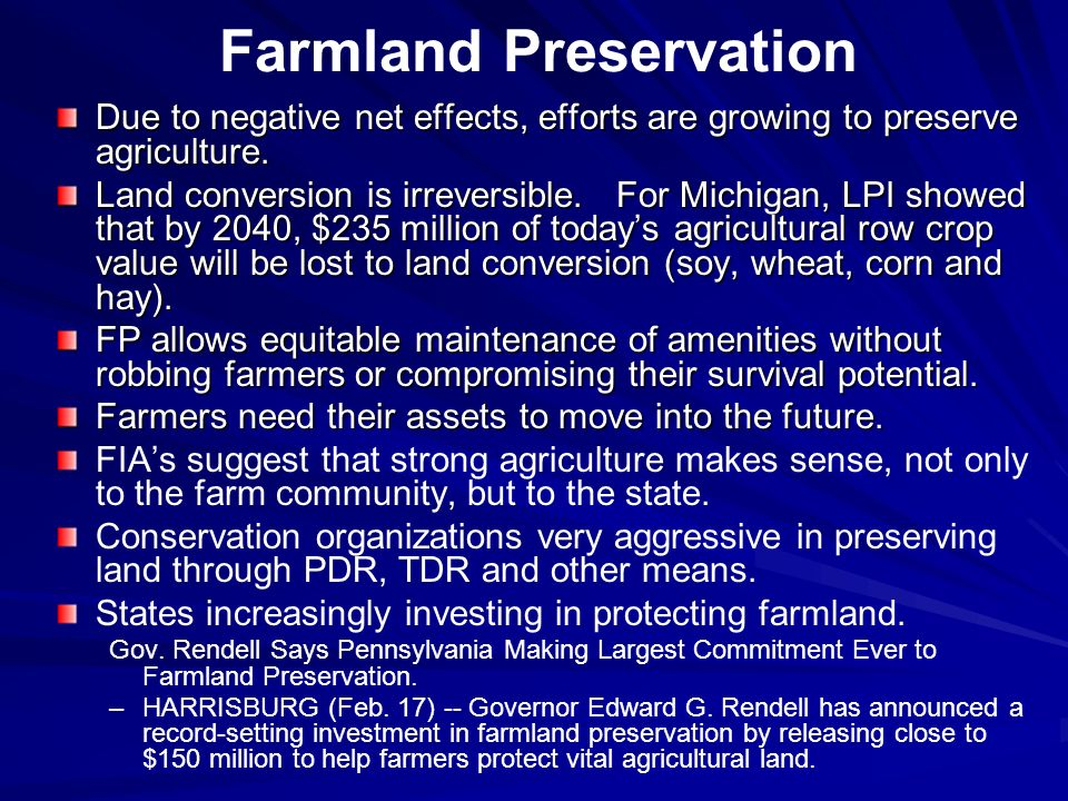 Farmland Preservation