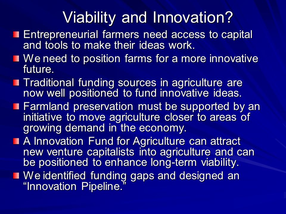 Viability and Innovation