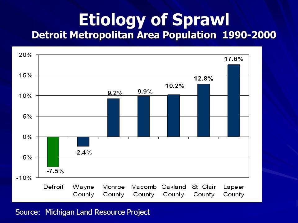 Detroit Metropolitan Area Population 1990-2000