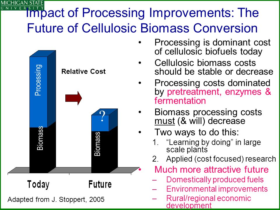 Impact of Processing Improvements: The Future of Cellulosic Biomass Conversion