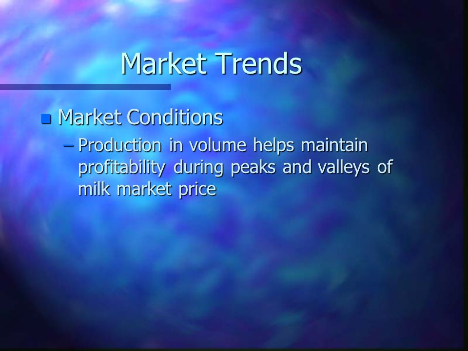 Market Trends Market Conditions