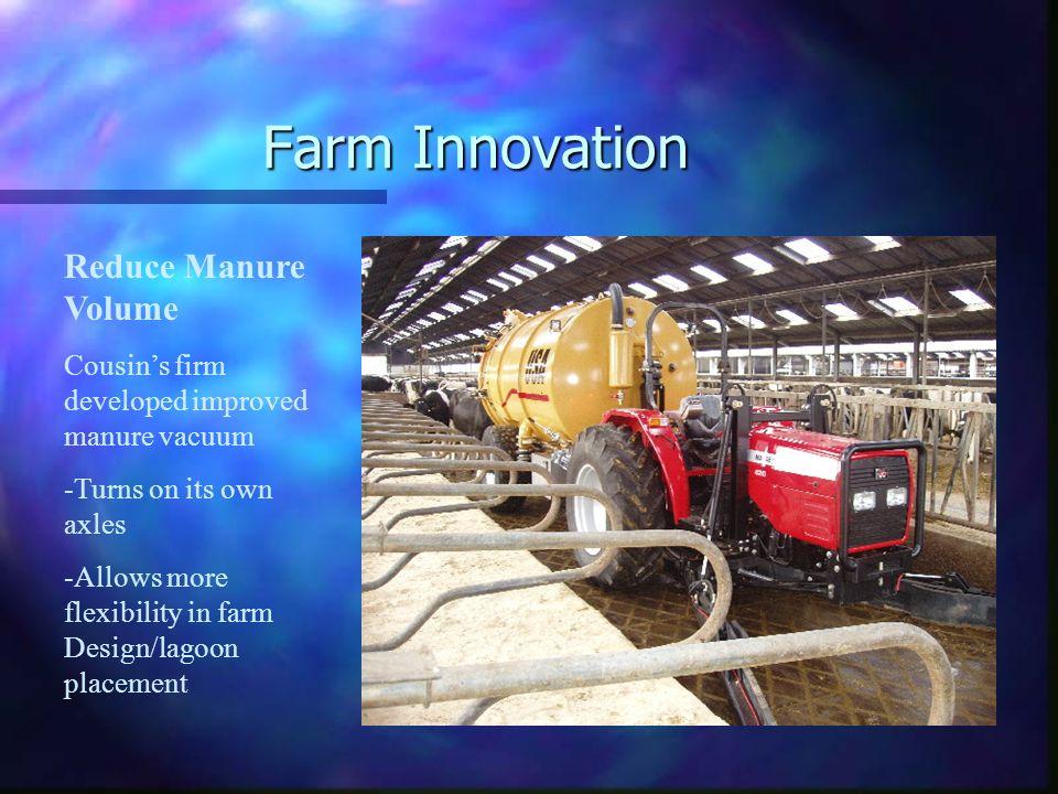 Farm Innovation Reduce Manure Volume