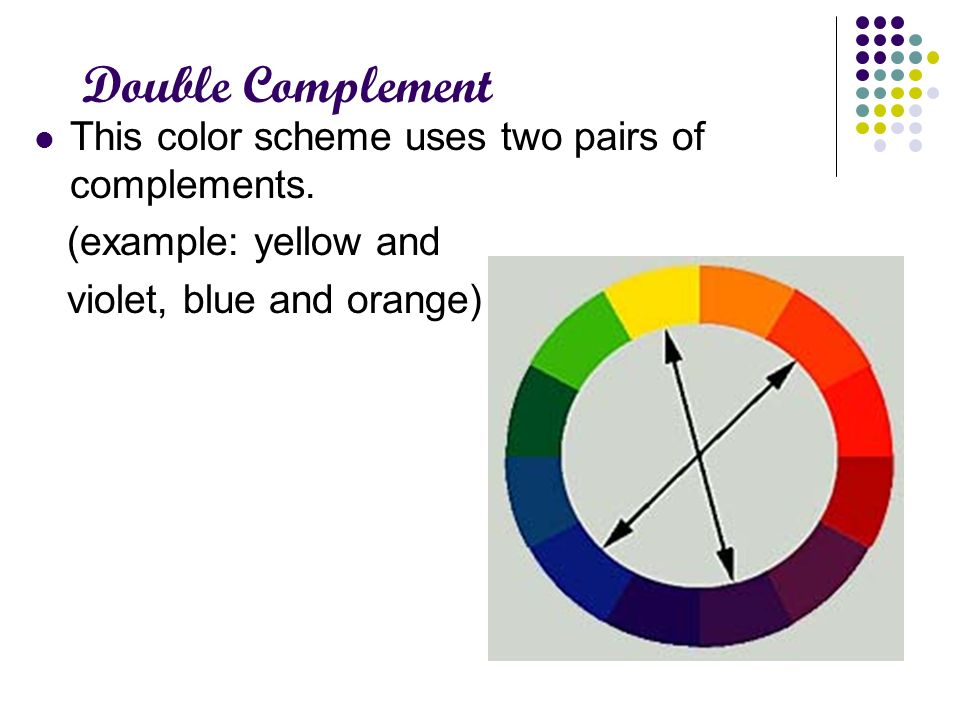 Double Complement This Color Scheme Uses Two Pairs Of Complements