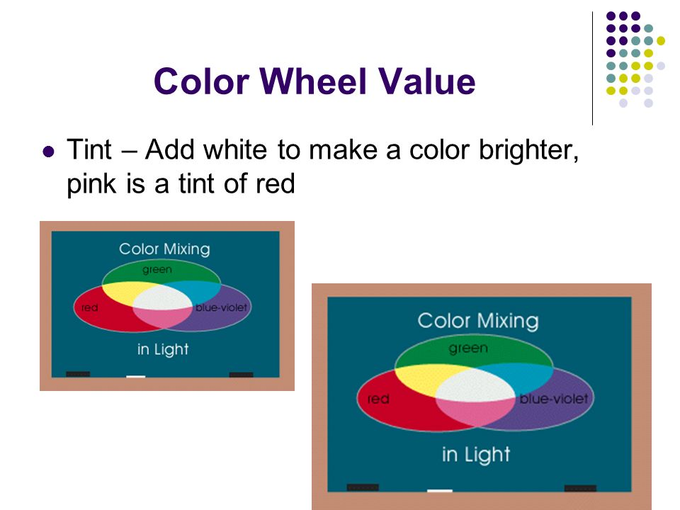 9 Color Wheel Value Tint Add White To Make A Brighter Pink Is Of Red