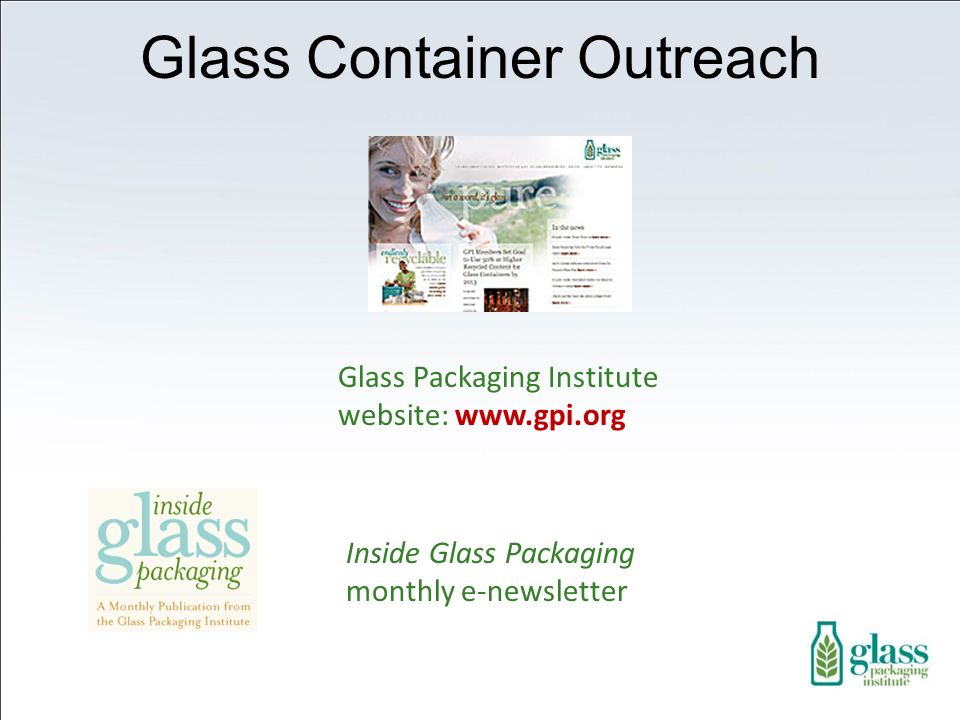 Glass Container Outreach