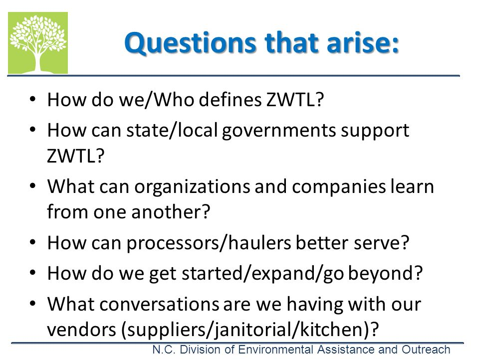 Questions that arise: How do we/Who defines ZWTL