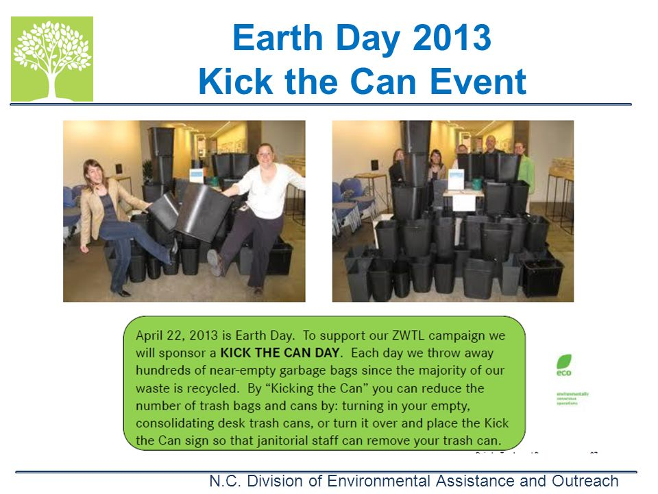 Earth Day 2013 Kick the Can Event
