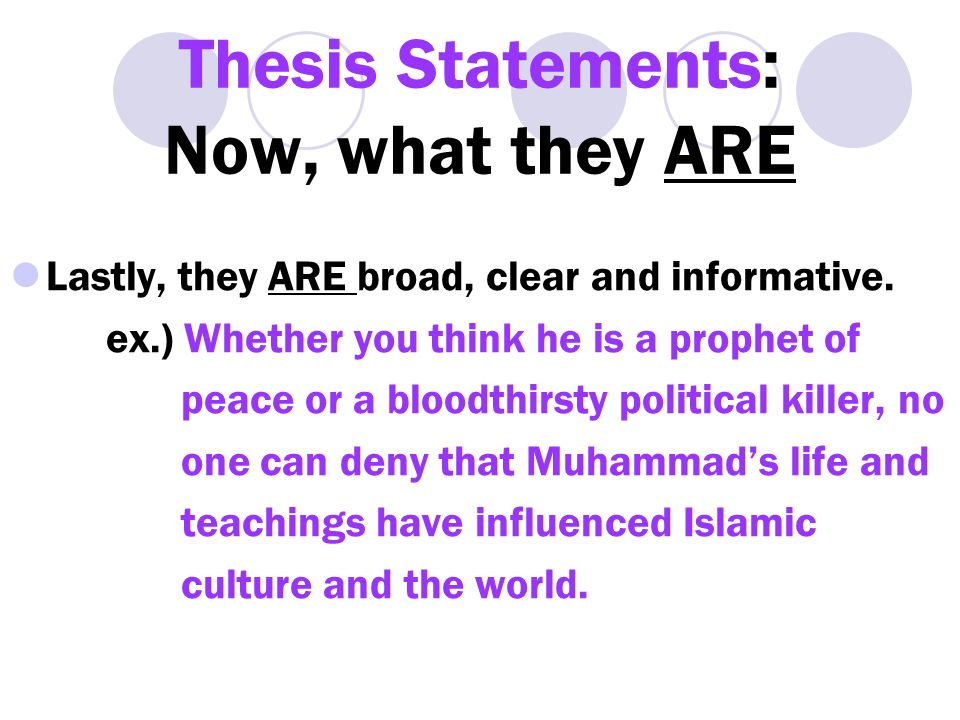 refining a thesis statement